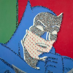 Caped Crusader by Craig Alan - Mixed Media sized 48x48 inches. Available from Whitewall Galleries